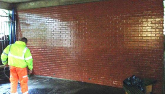 Graffiti Removal using Soda Blasting (After)