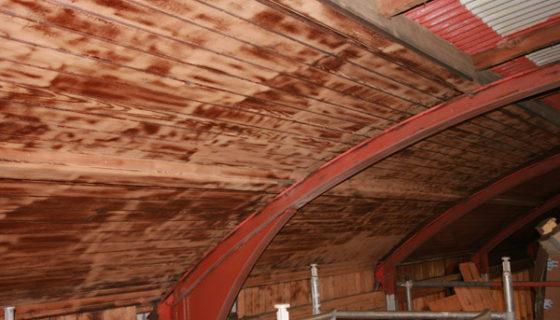 Wood restoration using Soda Blasting - Tenby Lifeboat House