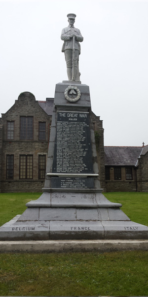 Historic Llangefni War Memorial Monument Cleaning (After)