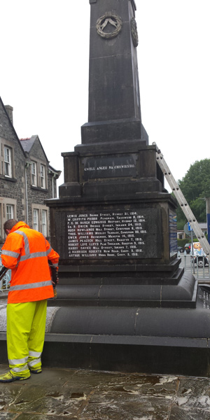 Historic War Memorial Monument Cleaning