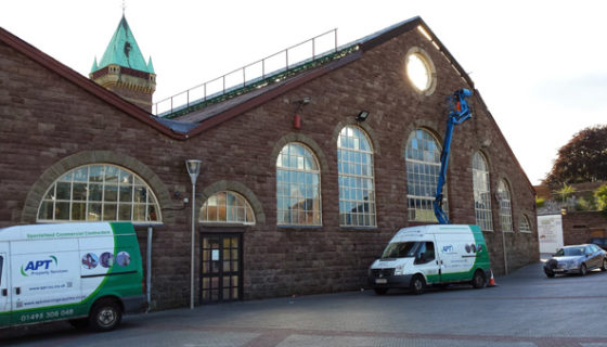 Exterior Building Cleaning - Abergavenny Market Hall