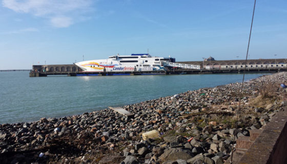 Stone Cleaning & Restoration at Condor Ferries in Jersey