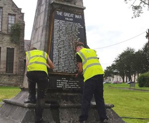 War Memorial Monument Cleaning