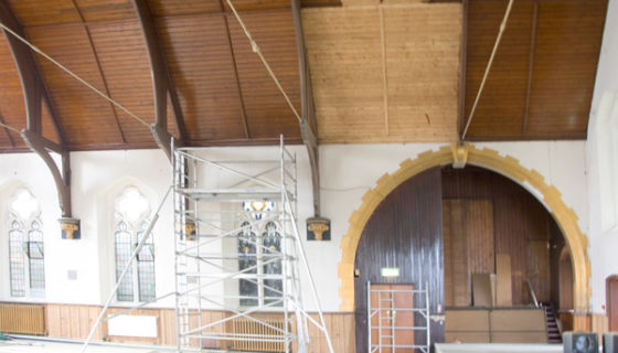 Burleigh Church Restoration in Progress