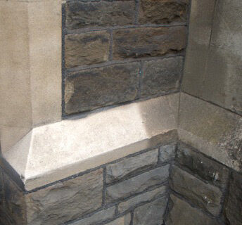 Sandstone Cleaning using Soda Blast Cleaning - Burleigh Church - Historic Church Restoration