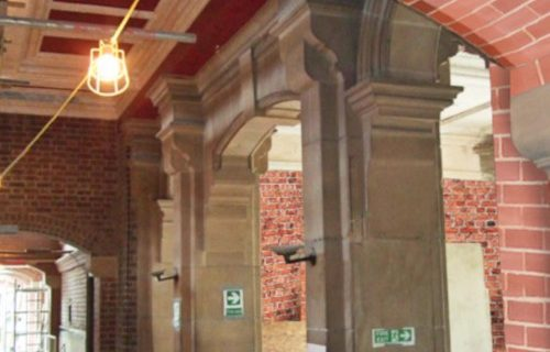 Brick Cleaning - The General Offices, The Works, Ebbw Vale, Blaenau Gwent (After)