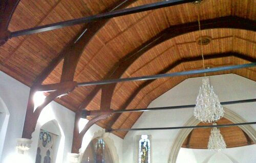 Burleigh Church Restoration using Soda Blasting