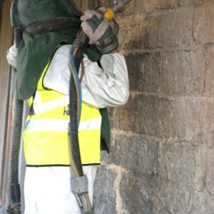 York Stone, Soda Blast Cleaning - Dry Ice Blasting